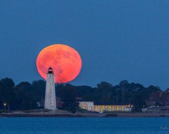 Buck Moon over Lighthouse Point
