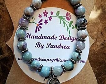 Handmade Multicolor Charoite Bracelet