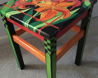 Spring End Table