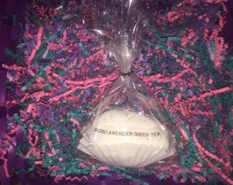 Rose Lavender Green Tea Bath Bomb