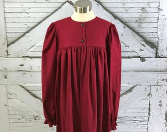 Size 14--Girl's Long Sleeve Brushed Cotton Gown