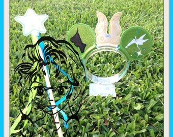 FAiRY TiNY & WaND Inspired Character (4 Piece) Mr Miss Mouse Ears Headband ~ In the Hoop ~ Downloadable DiGiTaL Machine Emb Design by Carrie