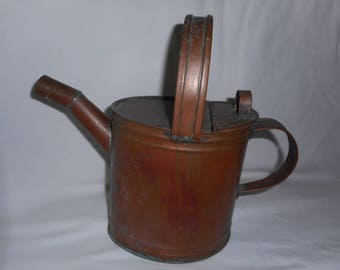 Antique Victorian Copper Watering Can AS FOUND Old Original Patina