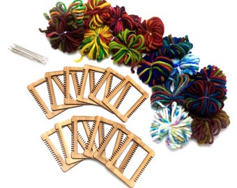 Mini Weaving Loom Kit, Party Pack, Craft Party, Project Pack