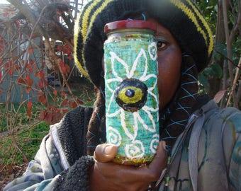 Evil Eye ProtectionFlower Power Stash/Altar Jar Papier Mache