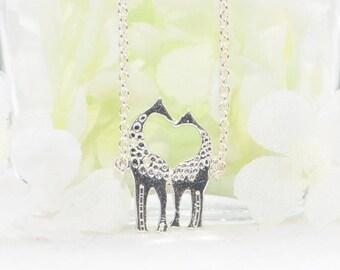 Small Giraffe Pendant - Giraffe Love Necklace - Giraffe Jewelry - Animal Necklace - Giraffe Jewellery - Giraffe Gift