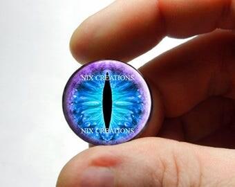 Glass Eyes - Mystical Glare Dragon Taxidermy Eyeball Cabochons - Pair or Single - You Choose Size