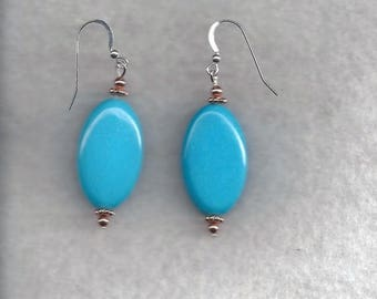 ON SALE Turquoise Drop Earrings