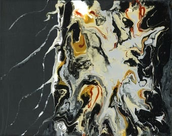 Abstract painting, fluid painting,  poured painting, wall art, poured art, flow art painting