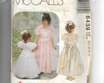 McCall's Girls' Dresses and Attached Petticoat  Pattern 6439