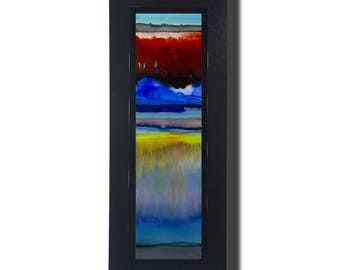 Red, Yellow & Blue Abstract Metal Painting Accent, Modern Wall Decor, Handmade Metal Art, Holiday Gift, Gift For Him - JC 522F by Jon Allen