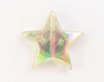 20mm Crystal AB Puff Star (2 Pcs) #UP262