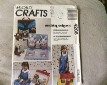 McCalls craft pattern #4208  bunnies and carry house