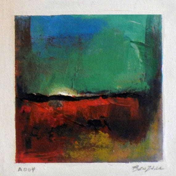 Daily Painting  A004 Small Abstract Study Painting Artwork by BenWill