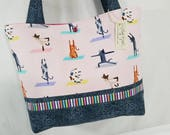 Yoga Cat Cats doing Yoga purse tote bag handbag