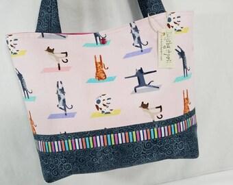 Yoga Cat Cats doing Yoga purse tote bag handbag
