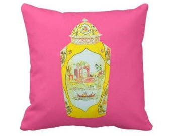 ROYAL WORCESTER JAR Pillow 4 sizes -  (indoor and outdoor fabrics)