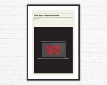Black Mirror Season 3, Episode 3: Shut Up and Dance Minimalism Movie Poster