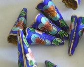 2 20mm Handmade Cloisonne Beads Bell Bead