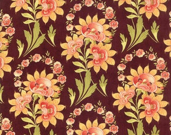 Hazel and Plum - Harvest Bouquet in Plum: sku 20290-15 cotton quilting fabric by Fig Tree and Co. for Moda Fabrics