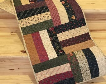 Table Runner Rustic Country Primitive Home Decor Quilted  Handmade