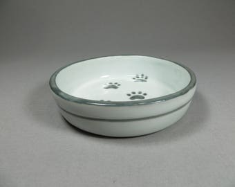 Paw Print Cat Food Dish