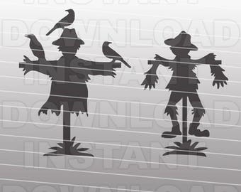 Gardening SVG File,Scarecrow SVG File,Farming SVG File-Vector Clip Art for Commercial & Personal Use-Cricut,Cameo,Silhouette,htv,Vinyl