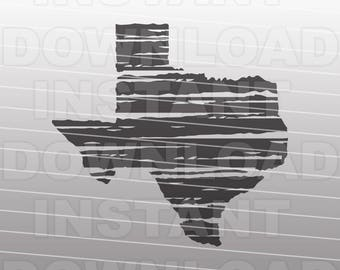Distressed Texas SVG File,Texas Outline SVG,Hurricane Harvey svg -Vector Clip Art Commercial & Personal Use-Cricut,Cameo,Silhouette,Vinyl