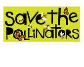 save the pollinators bumper sticker