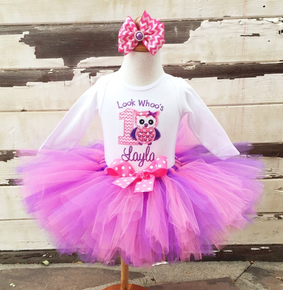 Owl Tutu Outfit, Look Whoo's Turning 1, 1st Birthday Tutu