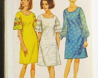 c1c653c47383 40% OFF SALE 1960s Vintage Sewing Pattern Simplicity 6997 Misses One-Piece  Dress Pattern Size 12 Bust 32 Uncut