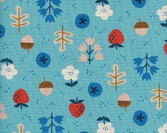 Cotton + Steel Welsummer - forage - bright blue - 50cm - PRE-ORDER