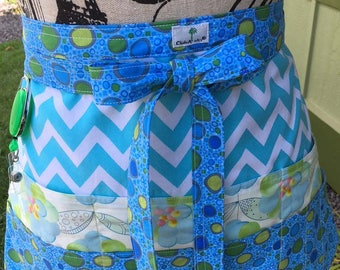 Sewing - Quilting - Crafter's - Vendor's - Waitress Half Apron
