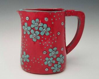 Ceramic Pitcher, Pottery Jug, Medium Porcelain Pitcher