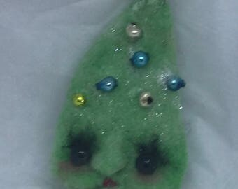 Tina the Christmas tree original one of a kind ornament