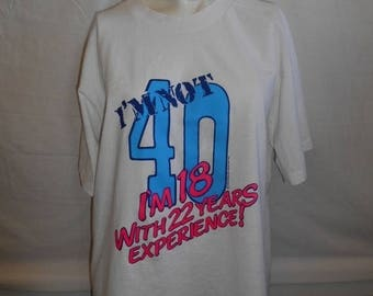 Closing Shop 40%off SALE 80s 1989 Vintage funny cute tee t shirts    40th Birthday