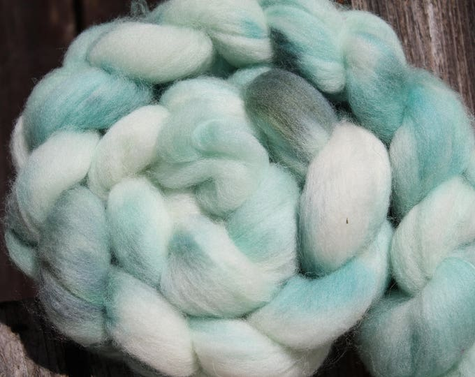 Kettle Dyed Falkland Wool Top.  Soft and easy to spin. 4oz  Braid. Spin. Felt. Roving. F172