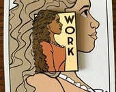 Work - She Series Pin
