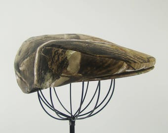 "RTS -  24.5"" XL  RealTree Camouflage Flat Jeff Cap, Ivy Cap, Driving Cap"