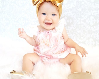 Baby Unicorn Romper -  Baby Romper - Toddler Romper - Toddler Unicorn Romper -  Baby Unicorn Outfit - Toddler Unicorn Outfit - Pink and gold