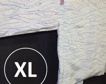 """Vintage Japanese Haori Kimono Jacket Modified XL Plus Size Oki """"Rainbow Waves"""""""