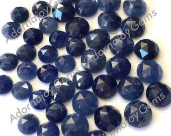 Sapphire 5mm Gemstone Cabochon Rose Cut Blue FOR ONE