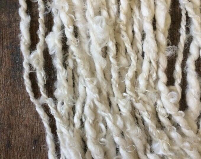 Space Lord, wild art yarn, 28 yards, white textured JUMBO yarn, chubby yarn