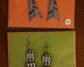 Retro and arrowtail earring set