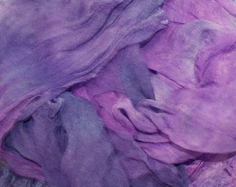 Midnight Express in  Hand Dyed Silk Gauze  for Nuno Felting