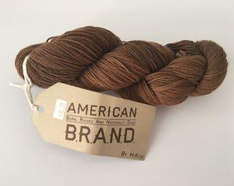 Brown sock yarn - destash - sock yarn - Free Shipping