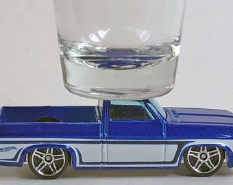 the Original Hot Shot shot glass, '83 Chevy Silverado, Pick Up, Hot Wheel car