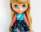 Retro Puppy in Outerspace, Handmade Dress for Neo Blythe Doll by Plastic Fashion