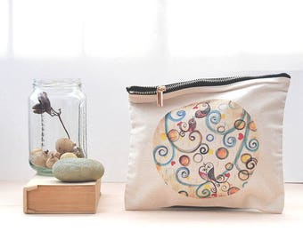 bird purse, travel organizer, cosmetic bag, toiletry bag, large pencil case, make up storage, under 15, gift for mum, gift for teen