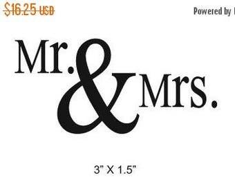Super Summer Sale Mr and Mrs Wedding Anniversary Scrapbooking Rubber Stamp 096